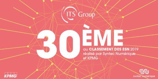 ITS Group, 30ème au classement 2019 des ESN françaises par Syntec Numérique et KPMG