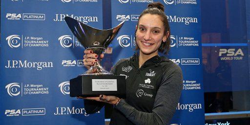 Notre sponsor Camille SERME remporte le Tournoi des Champions de squash