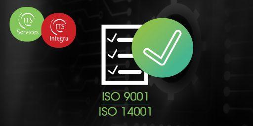 Les certifications ISO 9001-14001 maintenues en 2020 pour ITS Integra et ITS Services !