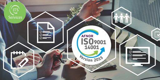 Renouvellement des certifications ISO 9001 et 140001 pour ITS Services
